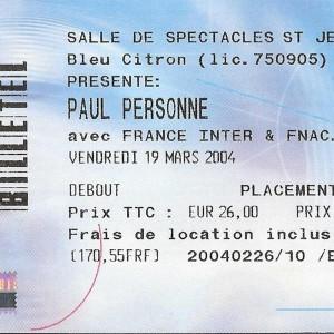 """19 mars 2004 Paul Personne à Saint Jean de la Ruelle """"Salle des Fêtes"""""""