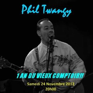 """24 novembre 2012 Phil Twangy à Orléans """"le Vieux Comptoir"""""""