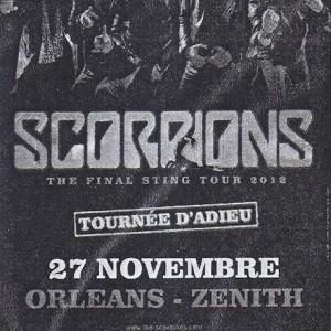 """27 novembre 2012 Scorpions à Orléans """"Le Zenith"""""""
