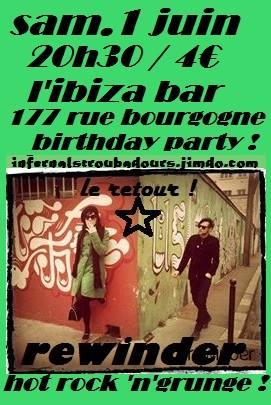 "1er juin 2013 Rewinder à Orléans ""L'Ibiza"""