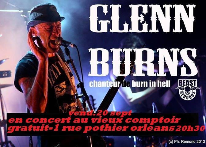 """20 septembre 2013 Glenn Burns à Orléans """"Vieux Comptoir"""""""