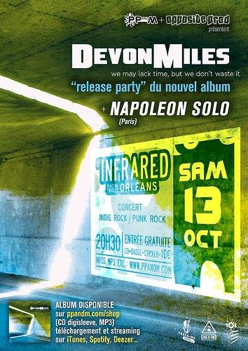 """13 octobre 2012 Napoleon Solo, Devonmiles à Orléans """"Infrared"""""""