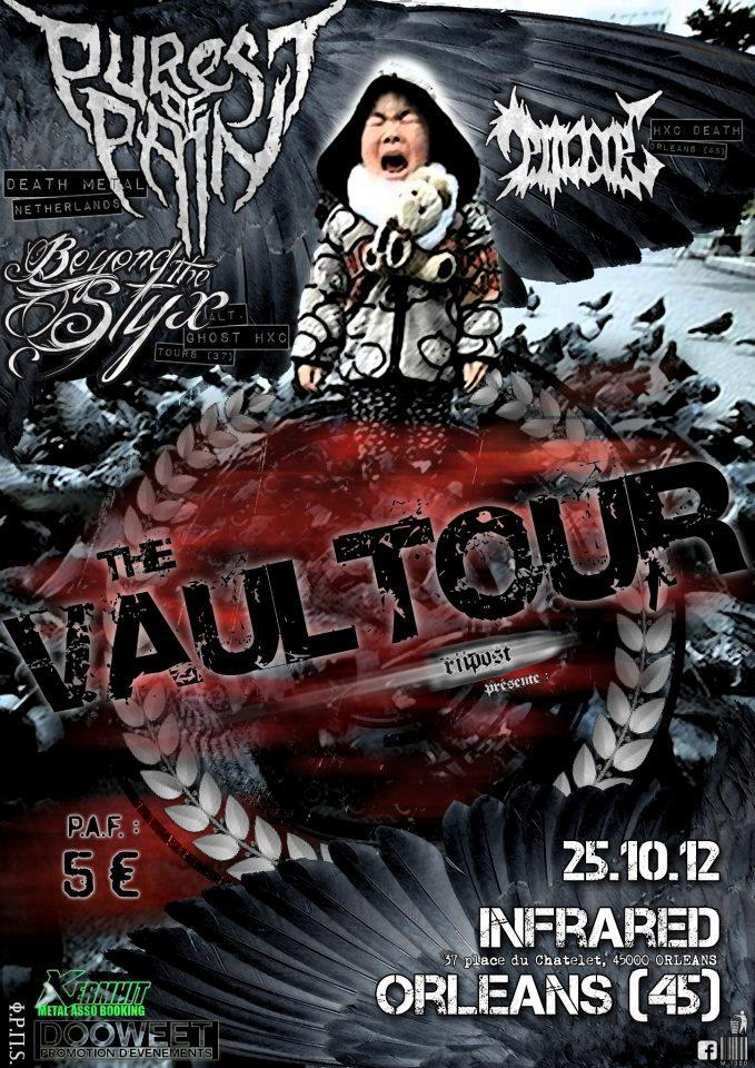 "25 octobre 2012 Polair, Beyond The Styx,  Purest of Pain à Orléans ""Infrared"""