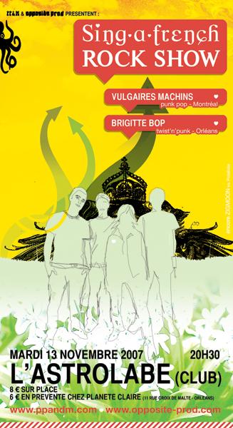 """13 novembre 2007 Brigitte Bop, Vulgaires Machins à Orléans """"Astrolabe"""""""