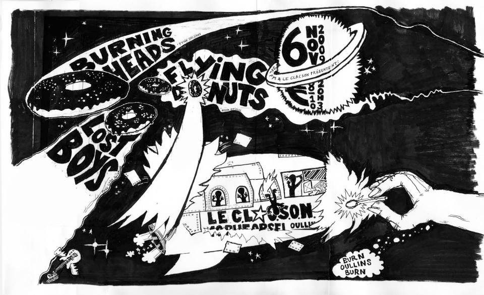 "6 novembre 2009 Lost Boys, Flying Donuts, Burning Heads à Oullins ""Clacson"""