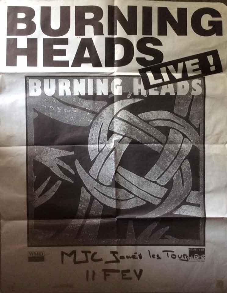 """11 février 1993 Burning Heads à Joué lès Tours """"MJC"""""""