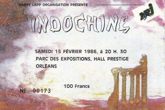 """15 février 1986 Indochine à Orléans """"Parc des Expositions"""""""