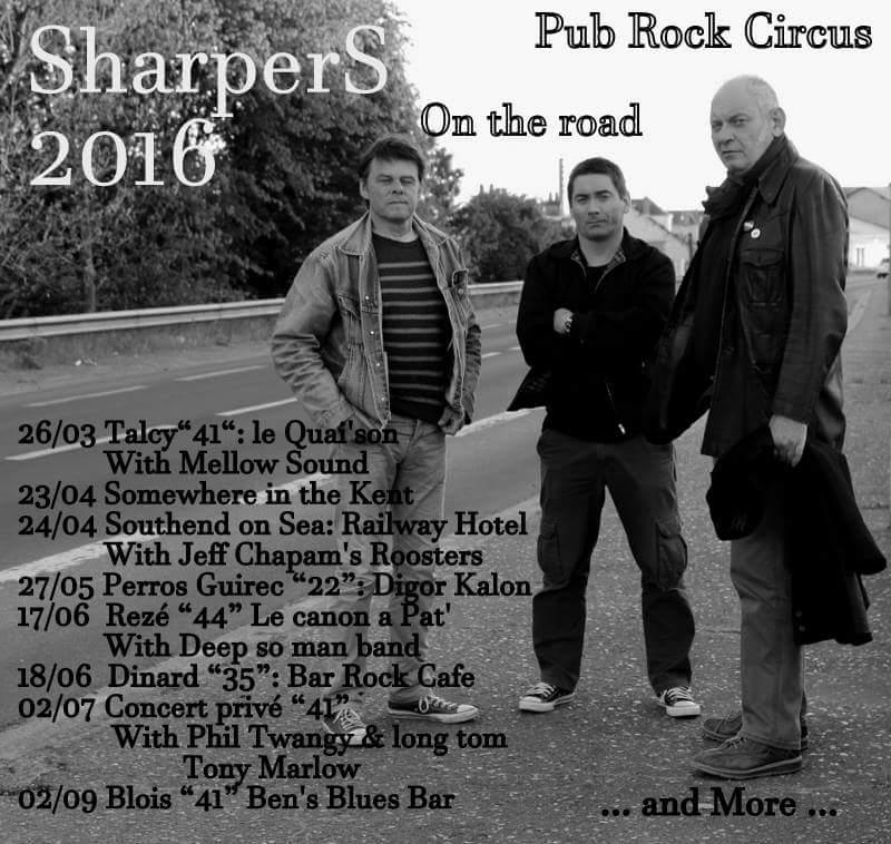 Sharpers : les concerts de mars 2016