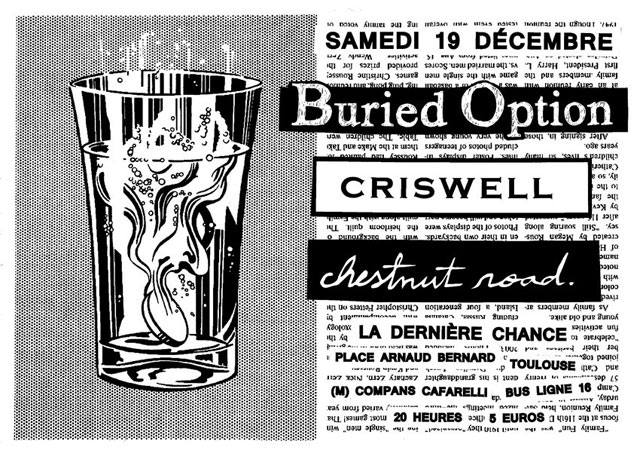 """19 décembre 2015 Buried Option, Chestnut Roads, Criswells à Toulouse """"la Derniere Chance"""""""