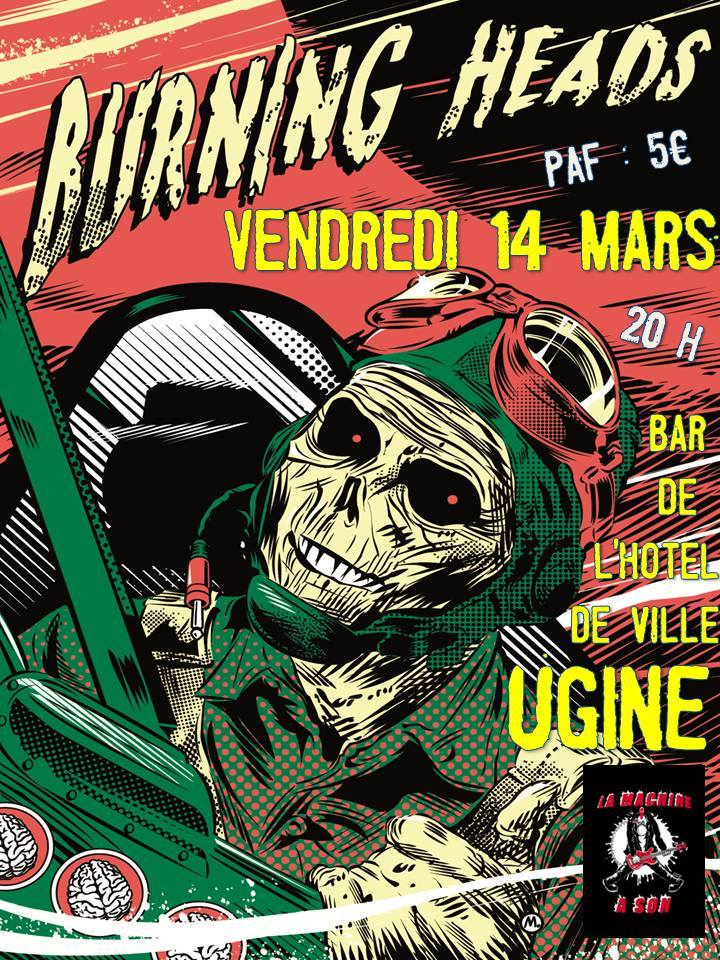 "14 mars 2014 Burning Heads à Ugine ""Bar de l'Hotel de Ville"""