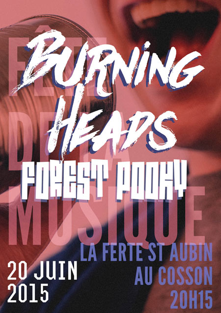 20 juin 2015 Forest Pooky, Burning Heads à La Ferté Saint Aubin
