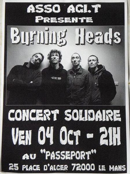 "4 Octobre 2013 Burning Heads au Mans ""Passeport"""