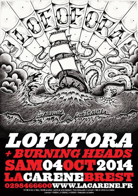"4 octobre 2014 Burning Heads, Lofofora à Brest ""La Carene"""