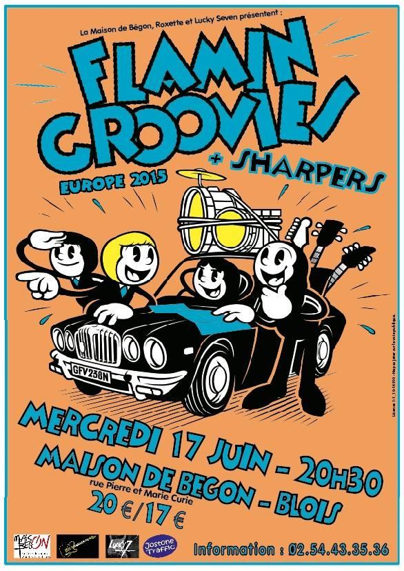 """17 juin 2015 Sharpers, Flamin Groovies à Blois """"Maison Begon"""""""