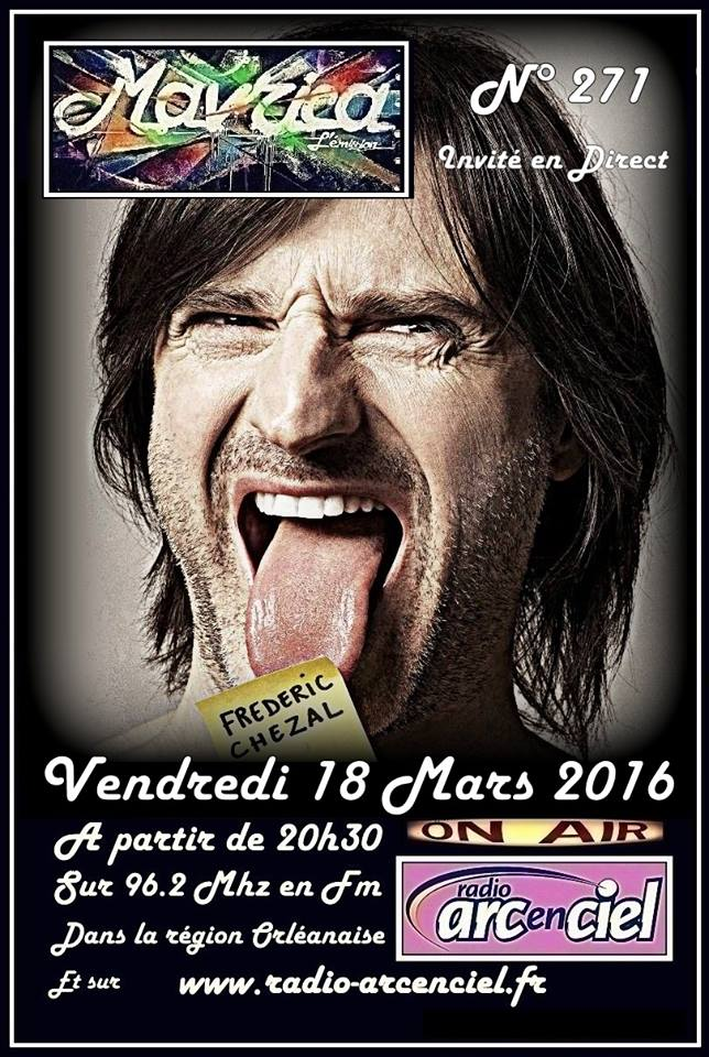 "18 Mars 2016 Frederic Chazal à Fleury les Aubrais ""Mavrica"""