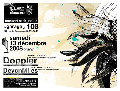"""13 decembre 2008 DevonMiles, Doppler à Orléans """"le 108"""""""