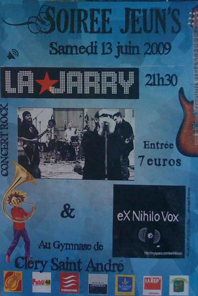 """13 juin 2009 Ex Nihilo Vox, La Jarry à Clery Saint André """"Gymnase"""""""