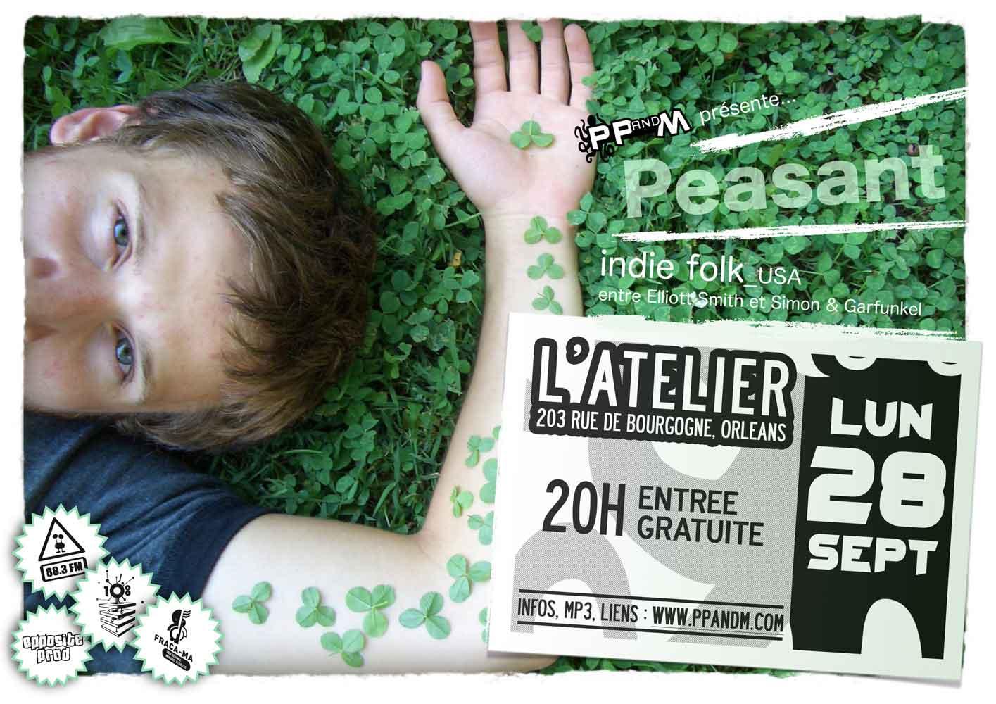 """28 septembre 2009 Peasant à Orléans """"l'Atelier"""""""