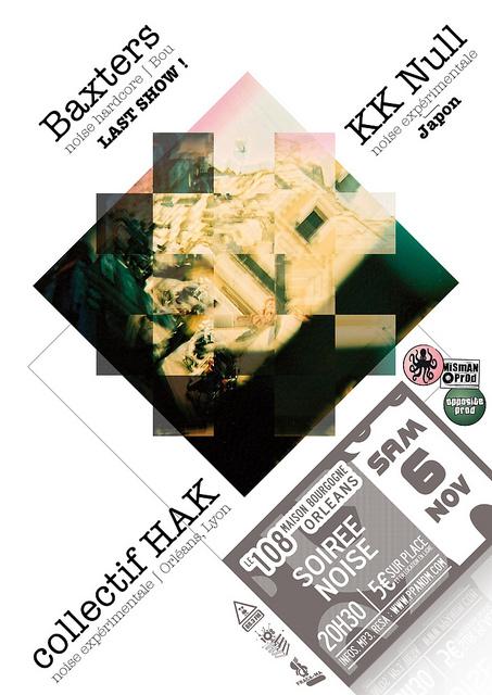"""6 novembre 2010 KK Null, Baxters, Collectif HAK à Orléans """"le 108"""""""