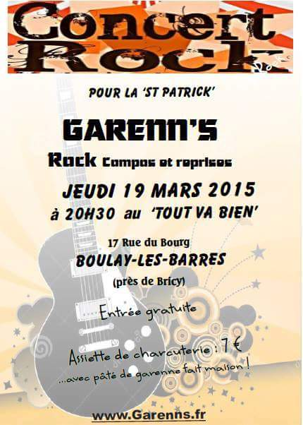 """19 mars 2015 Les Garren's à Boulay les Barres """"Le Tout Va Bien"""""""