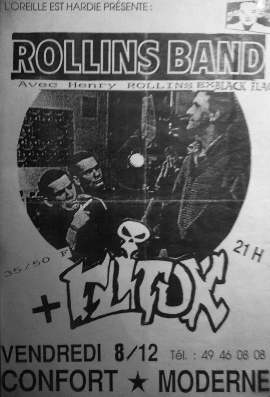 """8 décembre 1989 Flitox, Rollins Band à Poitiers """"Le Confort Moderne"""""""
