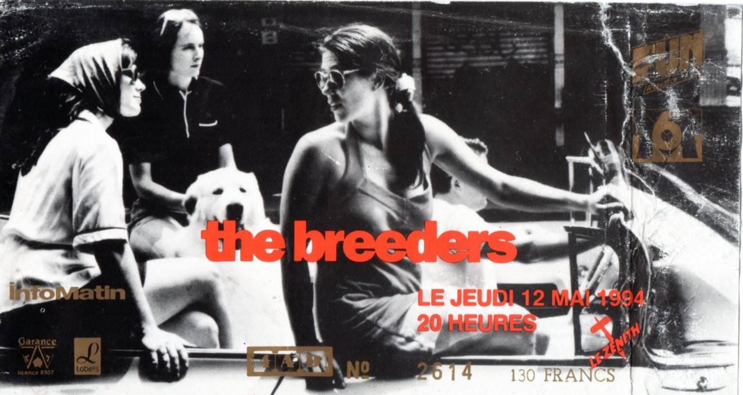"""12 mai 1994 Les Thugs, The Breeders à Paris """"Le Zenith"""""""