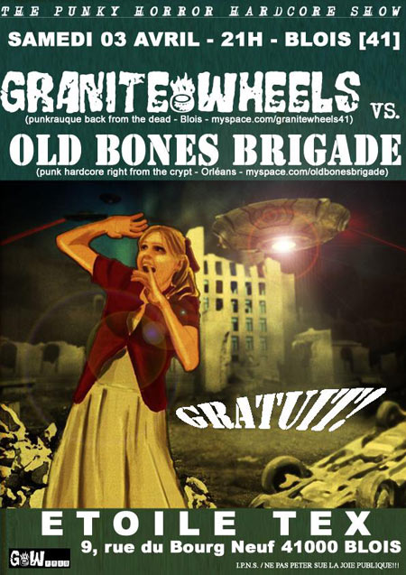 "3 avril 2010 Granite Wheels, Old Bones Brigade à Blois ""Etoile Tex"""