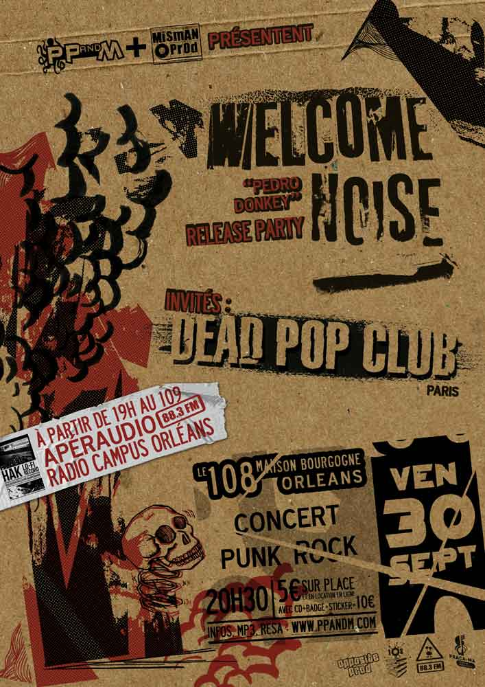 "30 Septembre 2011 Welcome Noise, Dead Pop Club à Orléans ""le 108"""