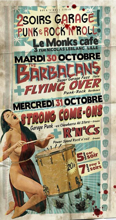 "30 Octobre 2012 Flying Over, Barbacans à Lille ""Monk Café"""