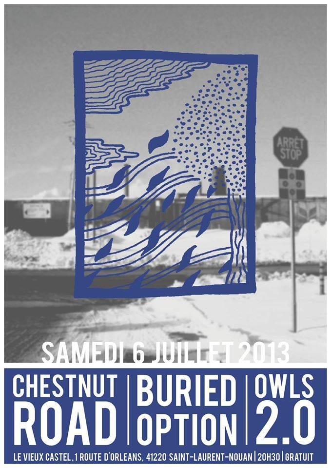 "6 juillet 2013 Chestnut Road, Buried Option, Owls 2.0 à Saint Laurent Nouan ""Le Vieux Castel"""