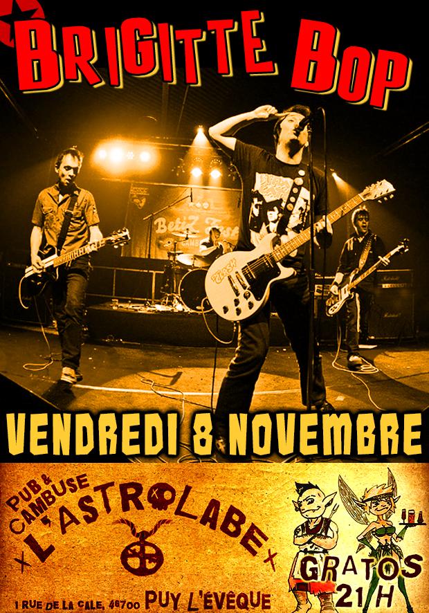 """8 novembre 2013 Brigitte Bop, les Clache à Puy l'Eveque """"L'astrolabe"""""""