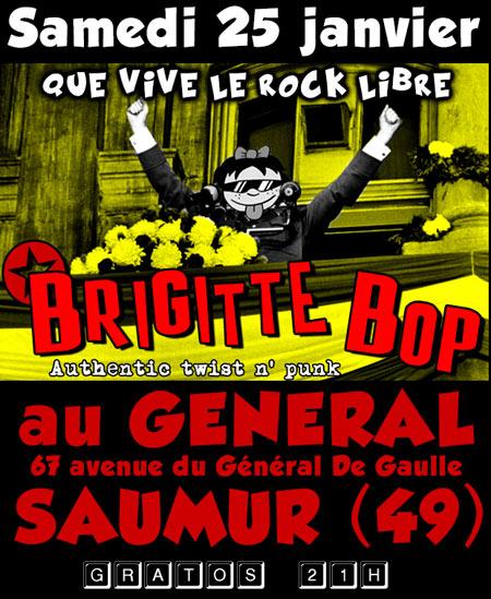 """25 janvier 2014 Brigitte Bop à Saumur """"Le General"""""""