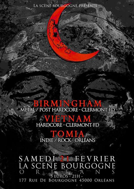 """21 fevrier 2015 Tomia, Vietnam, Birmingham à Orléans """"La Scène Bourgogne"""""""