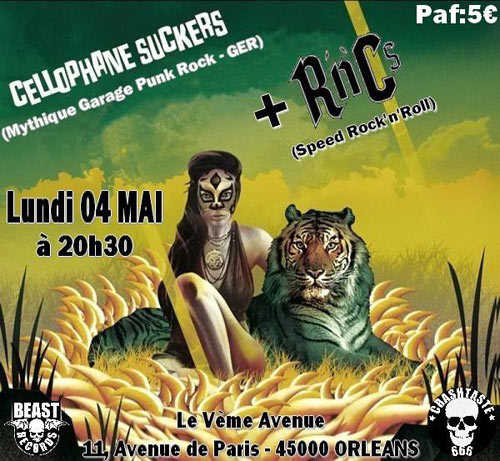"4 mai 2015 Rnc's, Cellophane Suckers à Orléans ""5ème Avenue"""