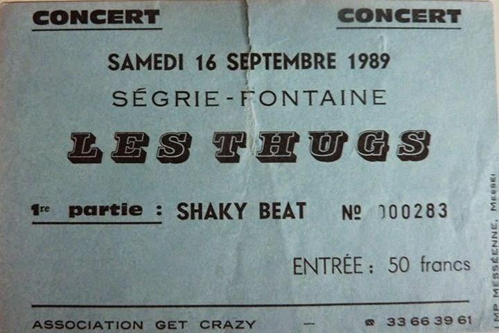 16 septembre 1989 Shaky Beat, Les Thugs à Segrié Fontaine