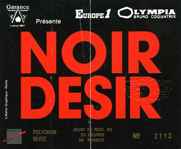 """23 novembre 1989 Les Thugs, Noir Desir à Paris """"Olympia"""""""