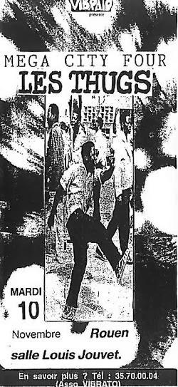 """10 novembre 1992 Mega City Four, Les Thugs à Rouen """"Salle Louis Jouvet"""""""