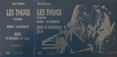 """18 décembre 1997 Les Thugs à Amiens """"La Cheminotte"""""""