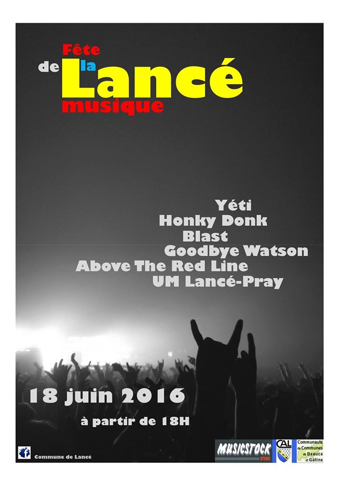 18 juin 2016 Above The Red Line, Goodbye Watson, Blast, Honky Donk, Yeti à Lancé