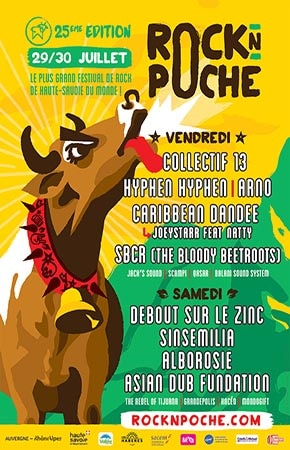 29 juillet 2016 Collectif 13, Hyphen Hyphen, Arno, Caribbean Dandee, SBCR (The Bloody Beetroots),  Jack's Sound, Scampi, Qasar, Balani Sound System à Habere Poche