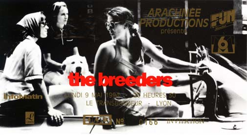 """9 mai 1994 Les Thugs, Breeders à Villeurbanne """"Transbordeur"""""""