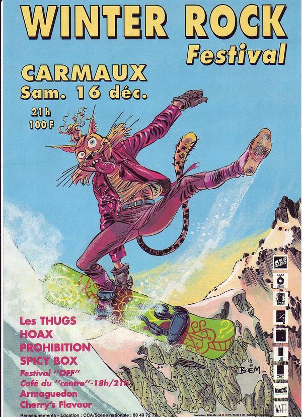 16 decembre 1995 Cherry's Flavour, Armaguedon, Spicy Box, Prohibition, Hoax, Les Thugs à Carmaux