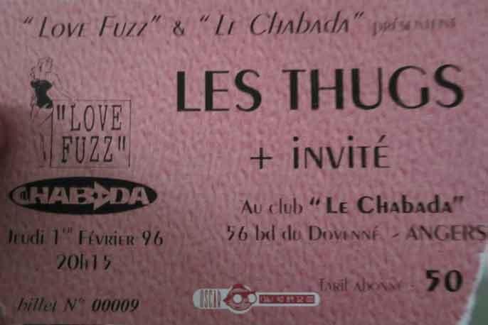 """1er fevrier 1996 les Thugs à Angers """"Le Chabada"""""""
