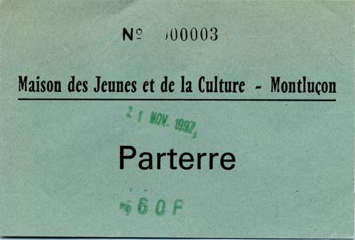 """21 novembre 1997 Les Thugs à Montluçon """"Maison des Jeunes et de la Culture"""""""