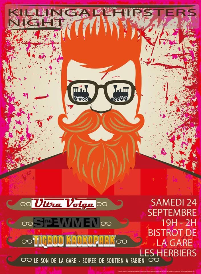 "24 septembre 2016 Spewmen, Ultra Volga, Tigrou Croq O Park aux Herbiers ""Le Bistrot de la Gare"""