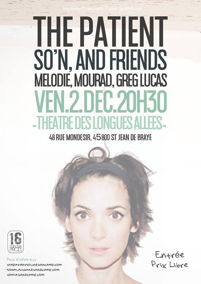 """2 decembre 2016 Greg Lucas, Mourad, Melodie, Rom So'n, The Patient à Saint Jean de Braye """"Theatre des Longues Allées"""""""
