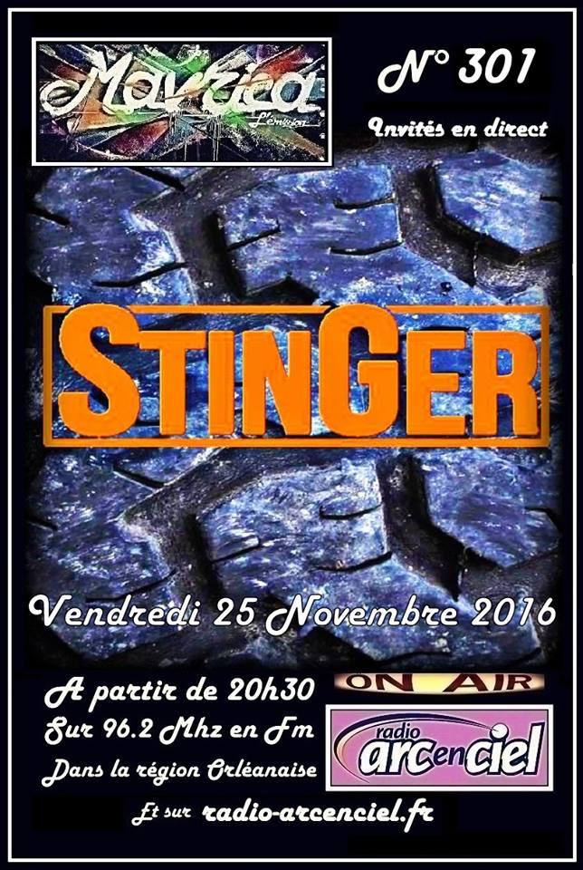 """25 novembre 2016 Stinger à Fleury Les Aubrais """"Mavrica"""""""