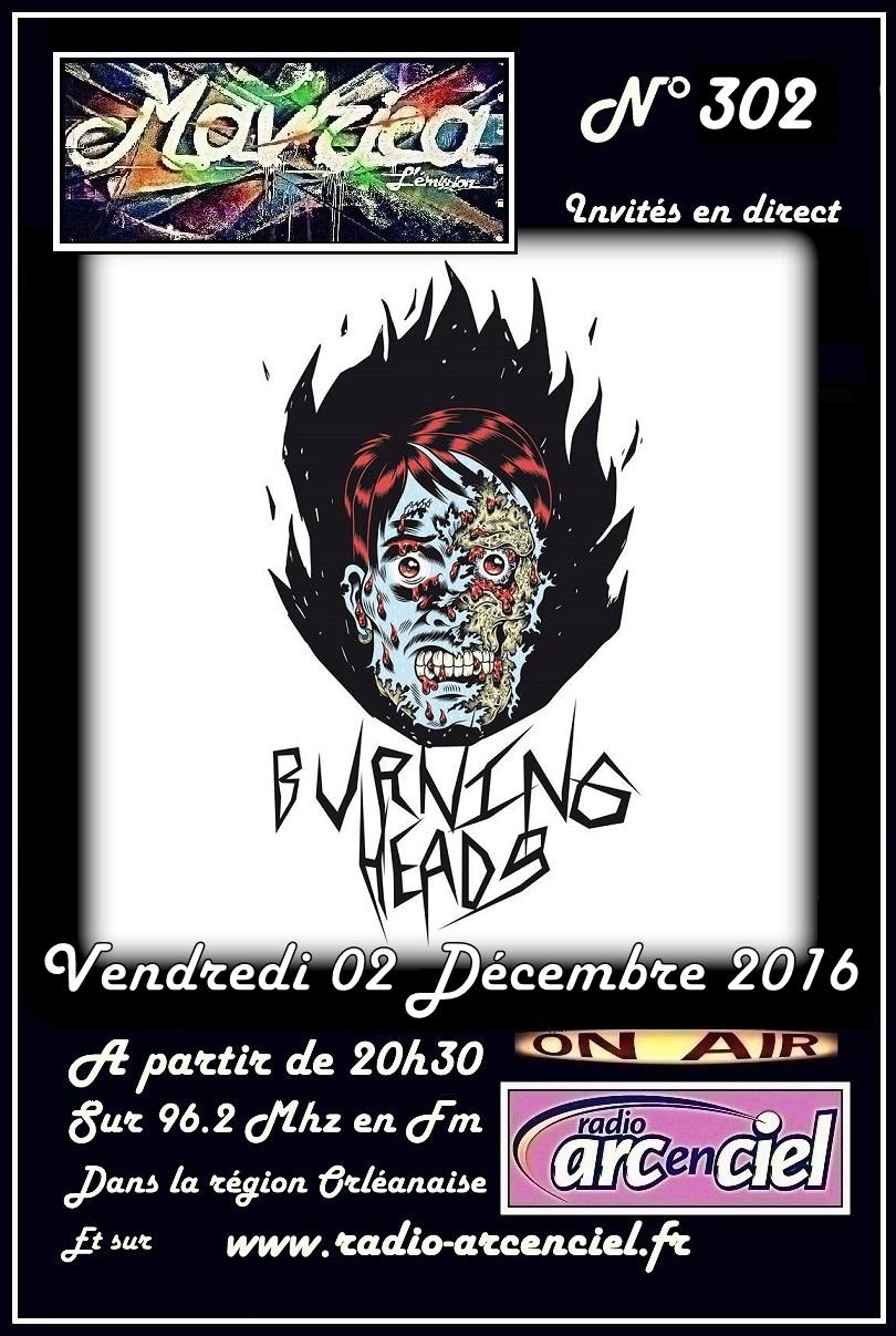 """2 décembre 2016 Burning Heads à Fleury les Aubrais """"Mavrica"""""""