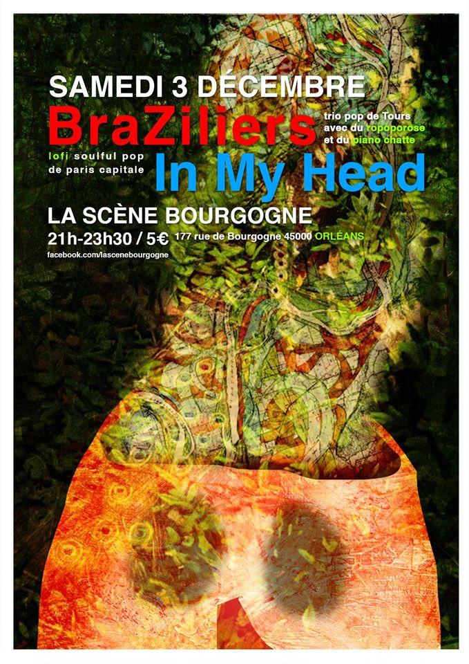 """3 decembre 2016 Rewinder, Black Pills,My Head, Braziliers à Orléans """"la Scene Bourgogne"""""""