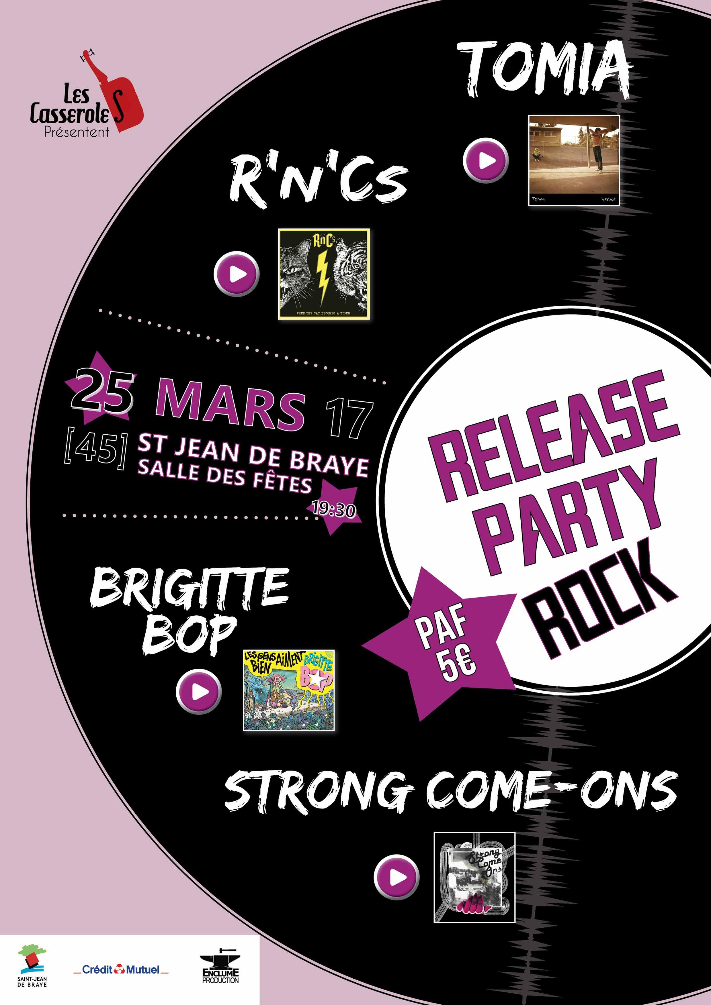 """25 mars 2017 Welcome Noise, Rnc's, Brigitte Bop, Strong Come-ons à Saint Jean de Braye """"Salle des Fêtes"""""""